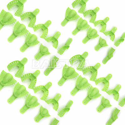 SALE! 20 Pcs Dental Supply Impression Trays Autoclavable Central 10pcs/Set Green