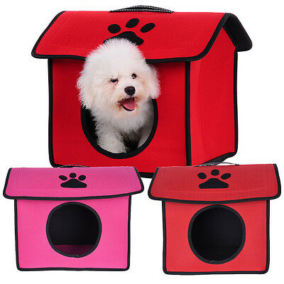 Indoor Dog House Kennel Portable Pet Bed Washable Small Puppy Cat Tent Shelter