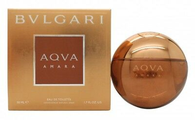 Bvlgari Aqva Amara Eau De Toilette 50Ml Spray - Men's For Him. New