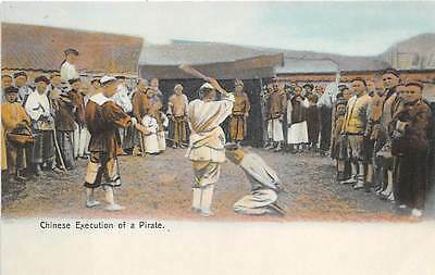 CHINA, CROWD WATCHES EXECUTION OF A PIRATE BY BEHEADING, STERNBERG PUB c 1904-14