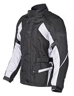 Triumph Acton 2 Mens Black Grey Armoured Motorcycle Jacket NEW RRP £139!!!