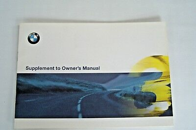 bmw m3 convertible Supplement to the Owners Manual new Original e36