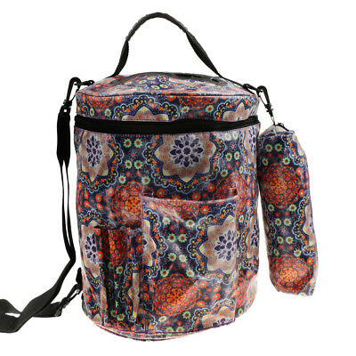 Yarn Drum Round Knitting and Crochet Tote Bag Toy Storage Organizer Bag