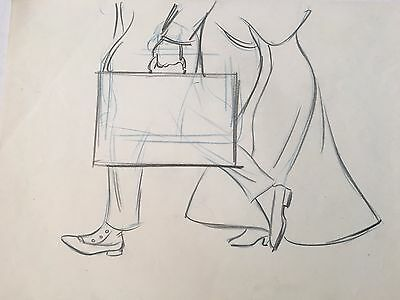 Disney LADY AND THE TRAMP Original Production Animation Drawing 1955