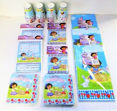 Dora the Explorer Party Pack for 32 - Party Tableware and Decorations