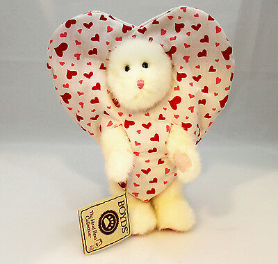 Boyds Bears Plush 2006 White Bear Heart-Print Peeker - #567988-1