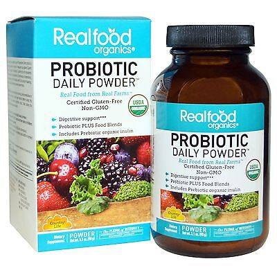 Country Life, Realfood Organics, Probiotici Daily Polvere, 88ml (90 gr.)