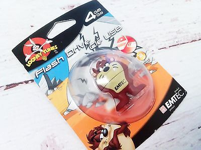 New LOONEY TUNES Tasmanian Devil Flash Drive Taz USB 4GB GO
