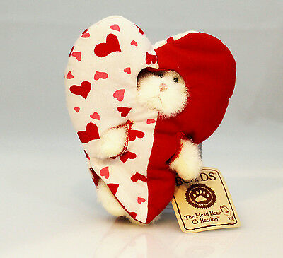 Boyds Bears Plush 2006 White Bear Half Heart-Print Peeker - #567988-3-DT
