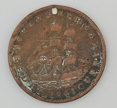 """1841 Hard Times Token """"Not One Cent For Tribute"""" *Z45"""
