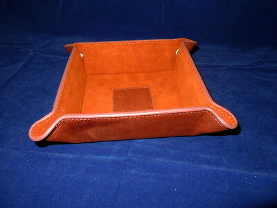 Levenger Leather Snap Tray-Brown