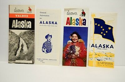 Vtg 1950's Alaska Travel Tourist Souvenir Brochures