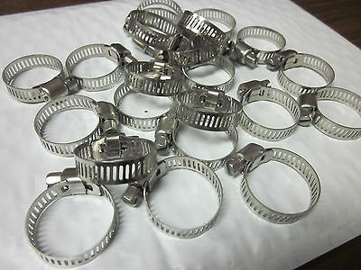 "20pc 1"" CLAMP STAINLESS STEEL HOSE CLAMPS 5/8"" - 1"" GOLIATH INDUSTRIAL TOOL"