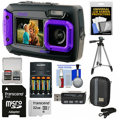 Coleman Duo 2V9WP Dual Screen Shock & Waterproof Digital Camera Kit Purple