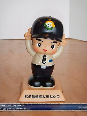 Vintage, Original 2009 Vinyl Advertising Figure Bank, Chinese  -  8.25""