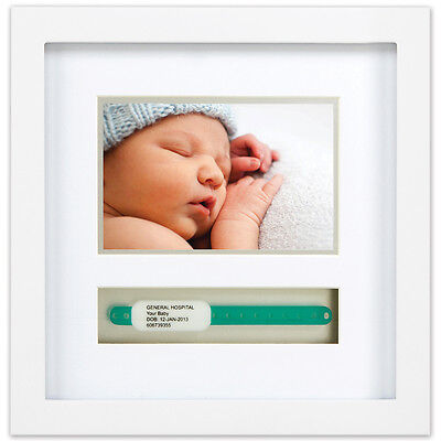 NEW Newborn Baby Hospital ID Bracelet And 4 X 6 Keepsake Shadowbox Photo Frame