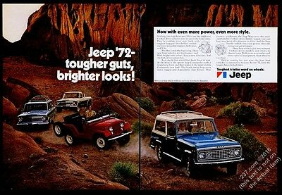 1972 Jeep Jeepster Commando CJ-5 Wagoneer pickup truck photo vintage print ad