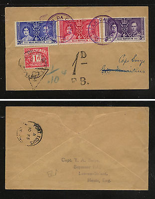 Mauritius 1937 coronation stamps, Tristan da Cunha,  Britain postage due stamp