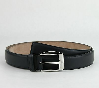 134435d74a7  465 New Gucci Men s Navy Blue Leather Belt w silver Buckle 105 42 336831
