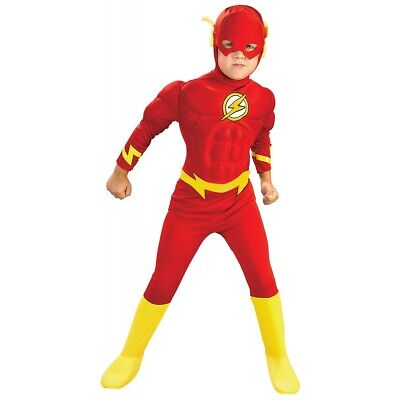 Flash Costume Kids Toddler Superhero Halloween Fancy Dress