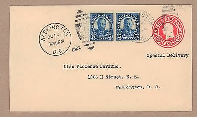 {BJ STAMPS} US  557 Theodore Roosevelt  5¢.  FDC. Oct 27 1922, Wash, D. C.