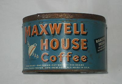 Vintage Maxwell House 1 Pound Coffee Tin Can