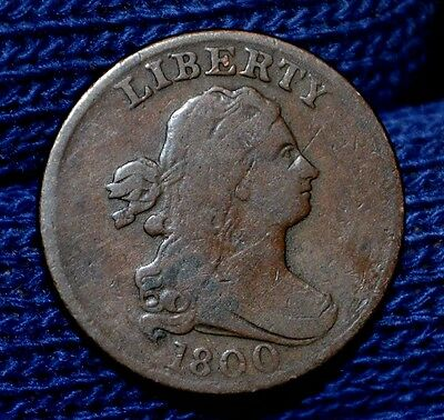 1800 Half Cent**choice Brown**fine
