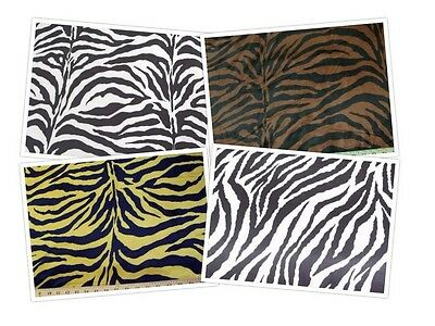 Zebra Stripe Charmeuse Wedding Bridal Silky Satin Fabric $5.99/Yard