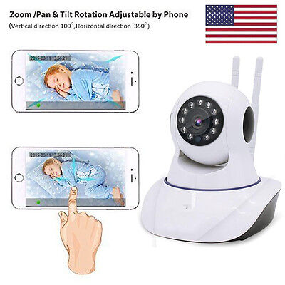 Wireless Camera Baby Monitor WiFi Video Record Remote Motion Night Vision US