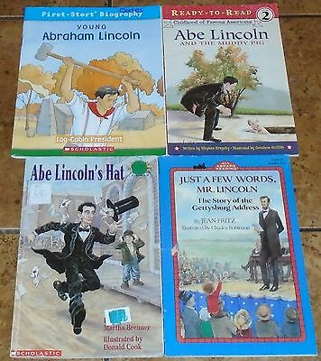 Abraham Lincoln LOT OF 4 children's books
