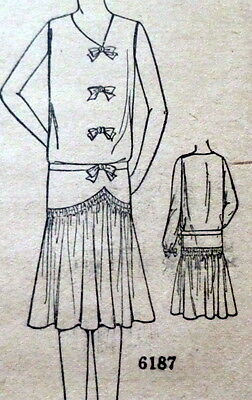 RARE VTG 1920s DRESS Sewing Pattern BUST 38 OLD DEADSTOCK
