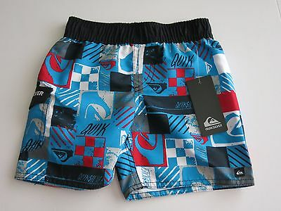 NWT Quiksilver Infant Toddler Boys Board Shorts Red Blue 12M/18M/24M