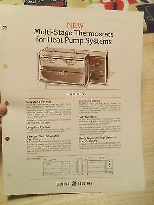 Vintage GE Brochure (1978):  Multi-Stage Thermostats for Heat Pump Systems