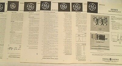 7 Vintage General Electric Instructions Sheets for Components, 1962, 1967
