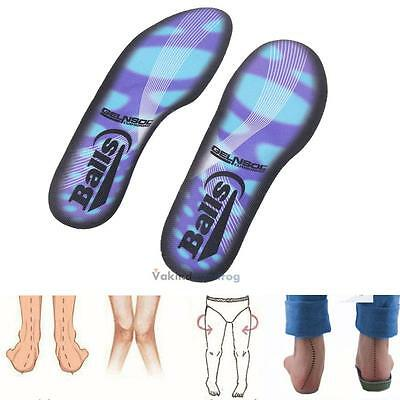 2 x Orthotic Flat Feet Foot High Arch Gel Heel Support Shoe Inserts Insoles Pads