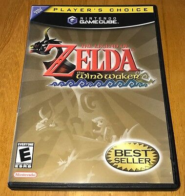 LEGEND OF ZELDA: THE WIND WAKER Nintendo Gamecube *Player's Choice* *RARE*