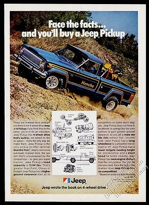 1978 Jeep Honcho J-10 pickup truck color photo vintage print ad