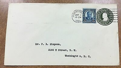 {BJ STAMPS} US 602 coil 1924 FDC 3/5/1924 Teddy Roosevelt