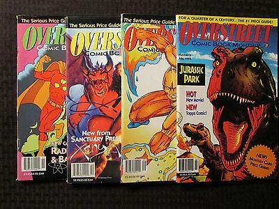 1993 OVERSTREET Comic Book Monthly Magazine #3 5 6 7 FN+ 6.5 LOT of 4
