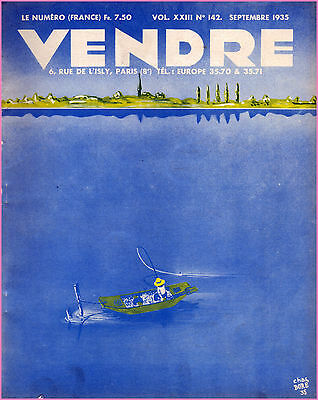 ▬►Marketing Publicité  -- Vendre N° 142 (Septembre 1935) --  Cover Chas Boré