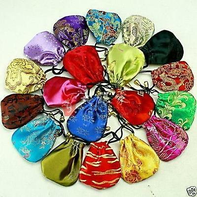 20Pcs Wholesale Chinese Handmade Silk Gift Pouches Purse