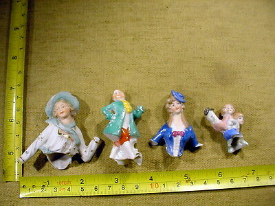 4x excavated damaged lovely painted vintage art deco doll age 1890 Art 918