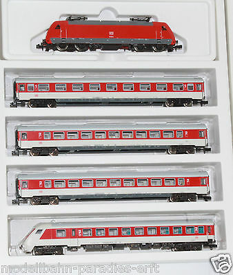 Minitrix Spur N 11446 Zugpackung BR 101 + 4 IC Wagen Selectrix in OVP (LL4347)