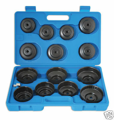 NEW! With Storage Case Oil Filter Socket Wrench Tool Set Cup Style 15 Pieces