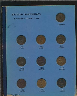 Great Britain - Farthing Collection 1902-1956 Complete! (24 Coins)