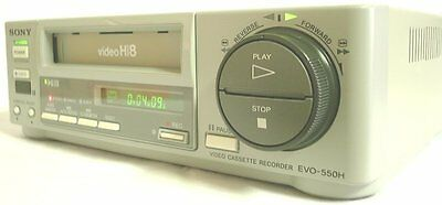 PLAY Hi8 Video8 Video 8 8mm Tapes w/ Sony EVO-550H Player Recorder VCR Deck EX