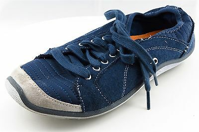 Dr. Scholl's Women Shoes Size 7.5 Navy Blue Leather Fashion Sneakers