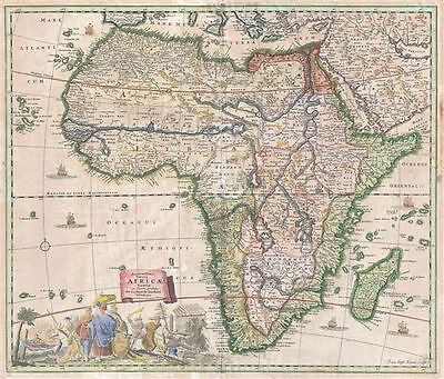 1697 Standrart Map of Africa (first map engraved by Homann)