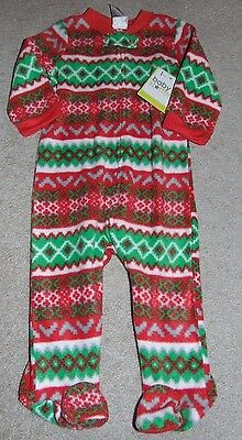 ~NWT BABY STARTER'S Footed Fleece Pajamas Size 9 Months FS:)~