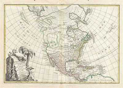 1762 Janvier Map of North America (Sea of the West)